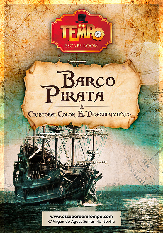 Escape Room para niños en Sevilla temática Barco Pirata