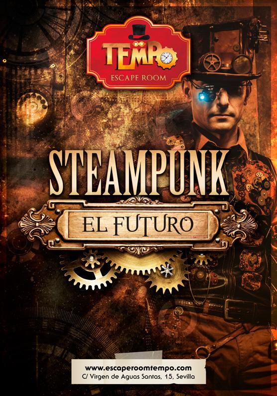 Escape Room para niños en Sevilla temática Steampunk el futuro