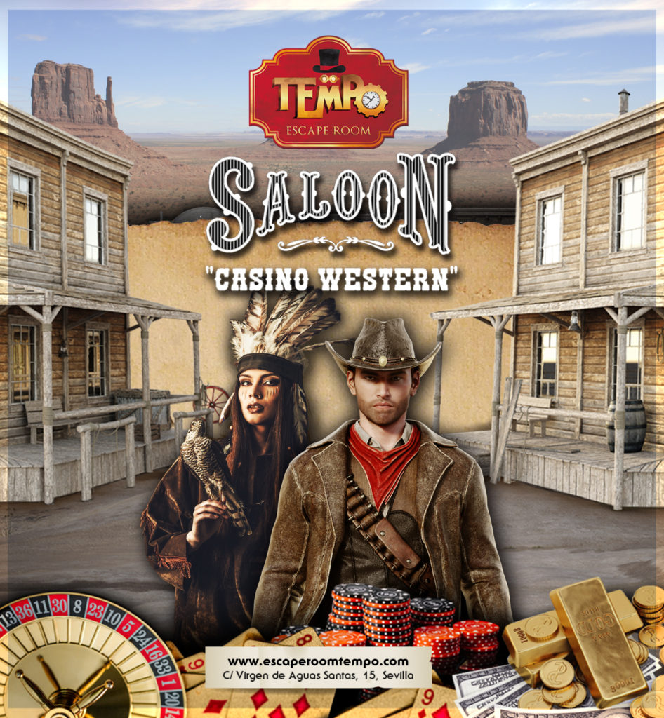 Hall Escape Sevilla: Saloon Casino Western